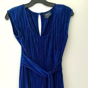 Maeve by Anthropologie shimmery blue jumpsuit